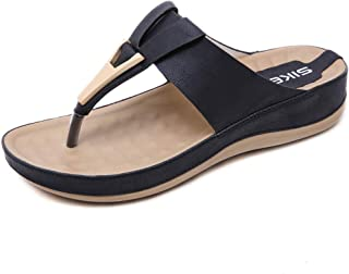 Damesschoenen sandalen sandalen metaal plus maat nonchalant zwangerschapsvrouwen pantoffels, abrikoos, 38 41 EU zwart