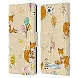Head Hülle Designs Offizielle Haroulita Baby Hirsch Muster Wald Leder Brieftaschen Handyhülle Hülle Huelle kompatibel mit Wileyfox Spark/Plus