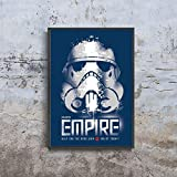 Star Wars propaganda Galactic Empire help end the rebellion Enlist today Poster (XS - A4 8.5 x 11 inch (21x29.7 cm))