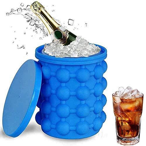 Diko Ice Genie Silicone Secchiello per Il Ghiaccio,Secchiello per Champagne,Stampo per Cubetti di Ghiaccio,Adatto per La Conservazione a Freddo di Whisky per Bevande