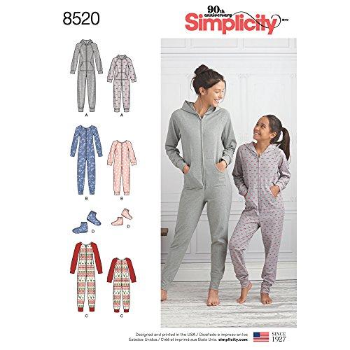 Simplicity Creative Patterns Sewing Pattern Sleepwear, A (S-L/X-Small-X-Large)
