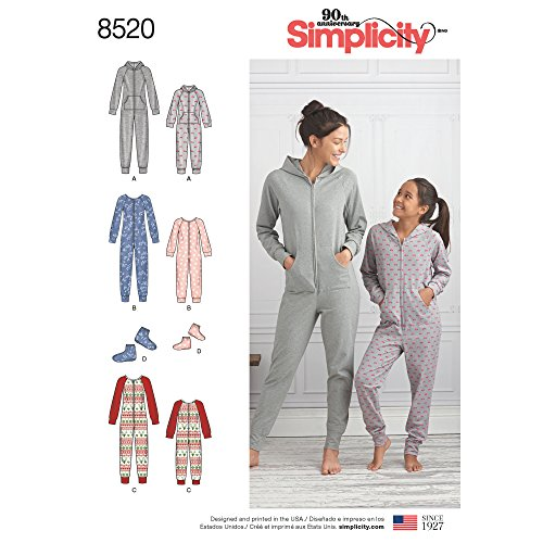 Simplicity Creative Patterns Sewing Pattern Sleepwear, A (S-L/X-Small-X-Large)
