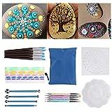 Juego de pintura Mandala, juego de puntos para bricolaje Mandala, herramienta de pintura con creatividad de cremallera fácil de llevar 25 piezas de pintura artística para principiantes,