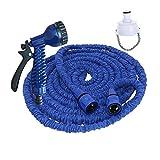 Garden Spray Gun Set manguera de jardín Jardín del agua de tuberías de conexión rápida de riego del jardín del tubo de agua 3 veces telescópica del tubo de agua Conjunto para regar flores / lavar auto