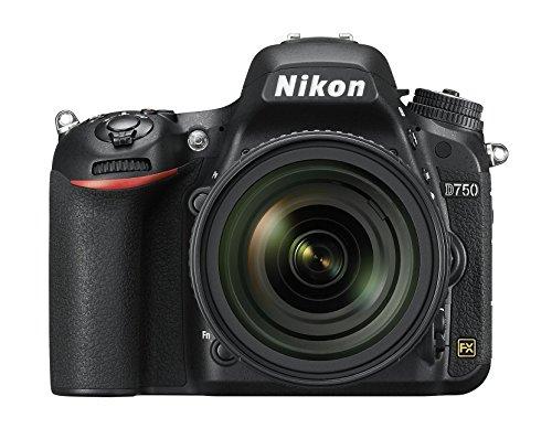 """Nikon D750 - Cámara réflex digital de 24.3 Mp (pantalla 3.2"""", estabilizador óptico, grabación de vídeo), color negro - Kit cuerpo cámara con objetivo AF-S DX 24-85 mm f/3.5-4.5G ED VR"""