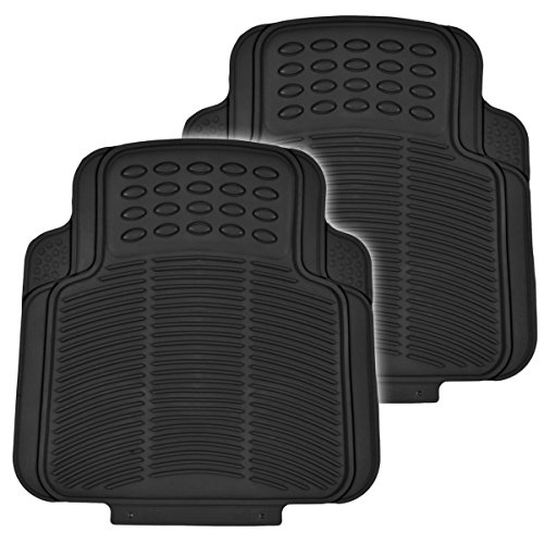 BDK Utility Floor Mats for Car, Home, Garage, Trimmable Semi Custom Fit, Black