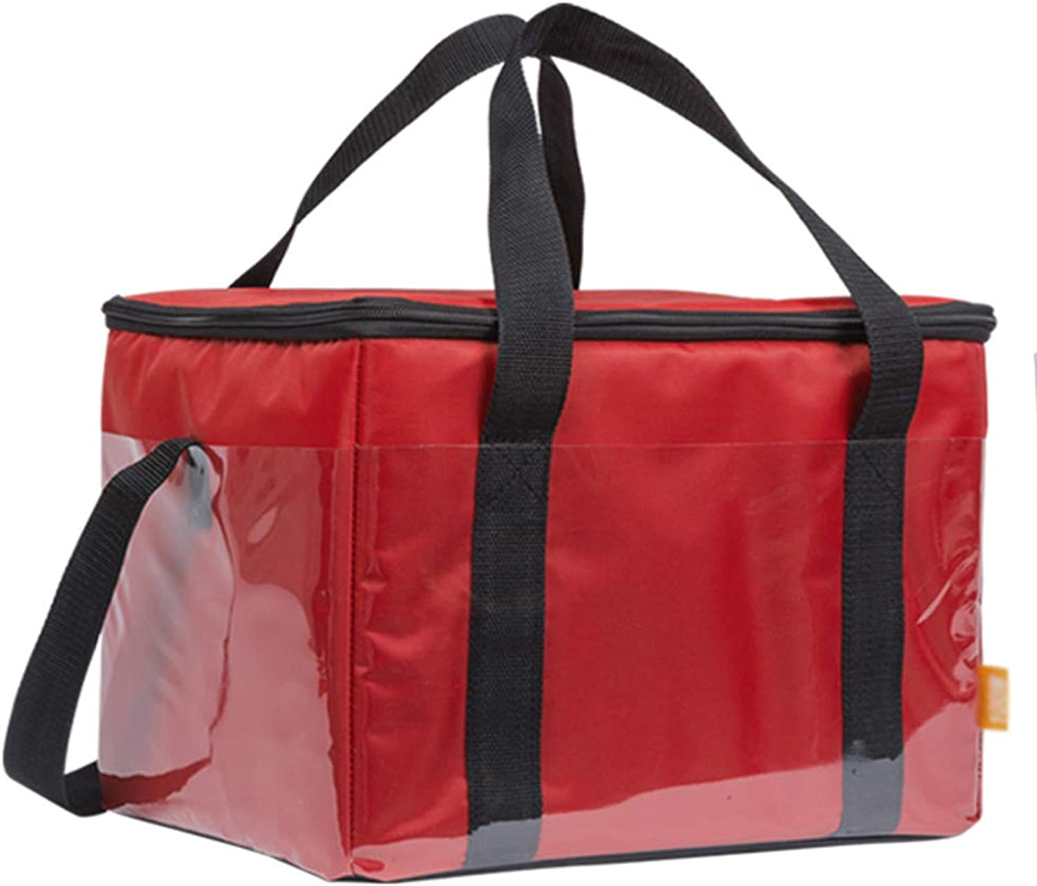 20L   30L   46L Thick Insulation Package, red orange Pizza Bag, take-Out Incubator, Thick delivery Bag, Household Back Milk Bag delivery Pizza Bag (color   RED, Size   20L)