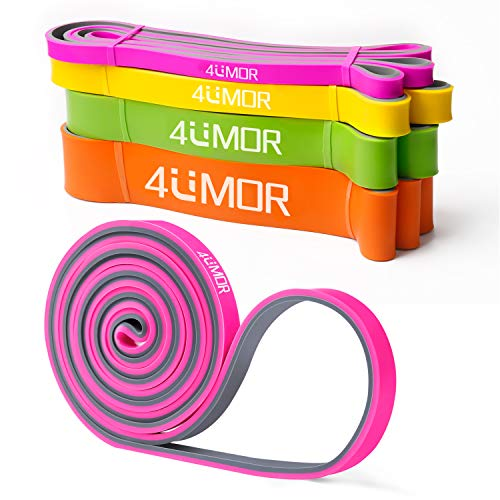4UMOR Widerstandsbänder Gymnastik Band Pink Power Pull-Up Stretch Band Für Fitness Fitnessbänder für Power-Training, Crossfit,Widerstandsbänder Krafttraining,Gymnastik, Stretching und Yoga