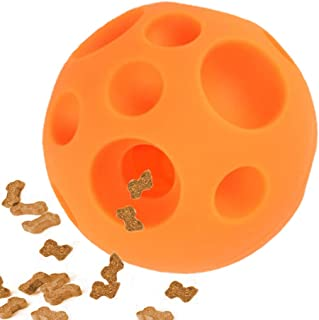 Dog Toy Balls, IQ Treat Ball Food Dispensing Toys Tricky Treat Ball Fun Interactive Dog Toy Food Dispenser Toy Puzzle Toy Ball, Non-toxic Soft Rubber 3D Surface Easy to Grip for Pet Small Medium Dog