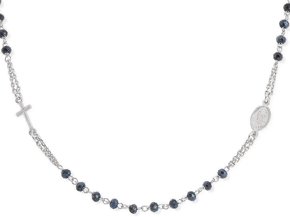 Amen collection,rosario girocollo,in  argento 925 con cristalli grigi CROBG3