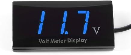 Wlgreatsp Auto DC Digital 8-16 V LED Panel Voltmeter 1 x 52mm Digital LED Auto Auto Voltmeter Meter Spannung Panel Voltmeter Anzeige DC 12V-24V