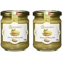 2 tarros - Crema de pistacho, el 40% de los pistachos de Sicilia, ideal para el desayuno, pero sobre todo para cosas dulces - 2x190g
