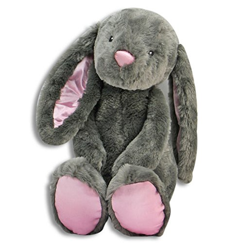 The Petting Zoo Floppy Long Eared 17' Brynn Stuffed Bunny Rabbit (Gray)