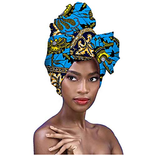 Surkat Traditional African Print Headwrap African Towel Fashion Head Scarf Headwear Hairwrap (Multicolored)