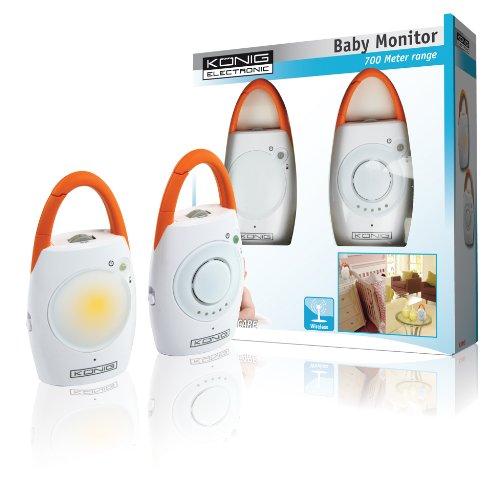König HC-BM05 Analog babyphone 2channels Naranja, Color blanco vigila bebes - Vigilabebé (Analog babyphone, 2 channels, 700 m, Naranja, Color blanco, Giratorio, AAA)