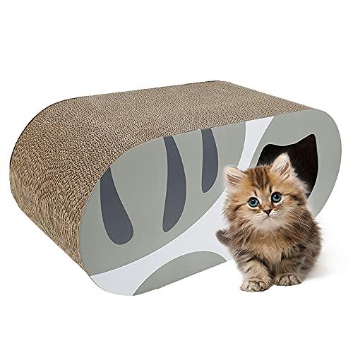 liuzhuo 猫 爪とぎ 猫 つめとぎ 段ボール 猫ハウス 高密度 耐久 爪磨き 家具傷防止 運動不足改善 ストレス解消 両面使用可能 猫 おもちゃ (グレー)