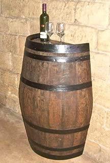 MGP Master Garden Products SBP-26T, 26 in. W x 35 in. L x 13 in. D Oak Wood Split Wine Barrel Stand, x x, Light Brown