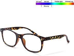 FONHCOO Blue Light Blocking Glasses Computer Reading Gaming Anti Eyestrain UV400 Glasses Leopard for Women Men
