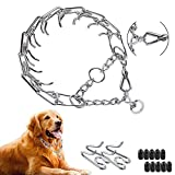 Prong Collar for Dogs, Dog Pinch Training Collar with Quick Release Clip, Adjustable Stainless Steel Links with Rubber Tips, Choke Collar for Small Medium Large Dogs (S(2.5mm ,17.7-Inch/45cm))