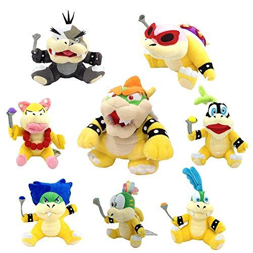 Yijinbo Super Mario Bros Koopalings Plüschtier King Bowser Lemmy Larry Roy Wendy O. Morton Larry Iggy Plüschtier weich