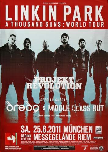Linkin Park - Messe, München 2011 » Konzertplakat/Premium Poster | Live Konzert Veranstaltung | DIN A1 «