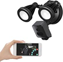 Floodlight Camera, Freecam Security Camera Outdoor 2500-Lumen Brightness with Siren Alarm IP65 Waterproof 1080p Night Visi...