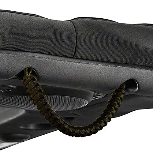 Grab Handles Grips Handle for Jeep Wrangler,Rear Soundbar Grab Handle Fit for Jeep Wrangler JK JKU,Hand Woven Paracord ,Black/Olive(2PCS)