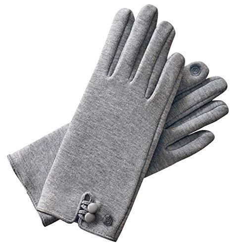 AKAROA ESTD 2019 Damen Handschuhe KEA, Touchscreen Handschuhe, extra weiches Teddyfutter, elastisches Jerseymaterial, 100{783e3a82d88fe5a09e3445a465cd929bf0a420afe7ceb1c4ca0aa39268a8043f} vegan
