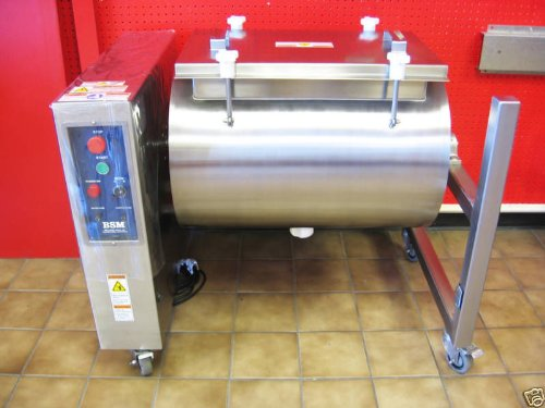 Meat, Poultry Tumbler Marinator NSF 304 HEAVY DUTY STAINLESS STEEL MADE IN USA