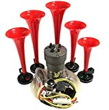 OEMLINK La Cucaracha Musical Car Truck UTV Air Horn with Installation Wire Kit and Button