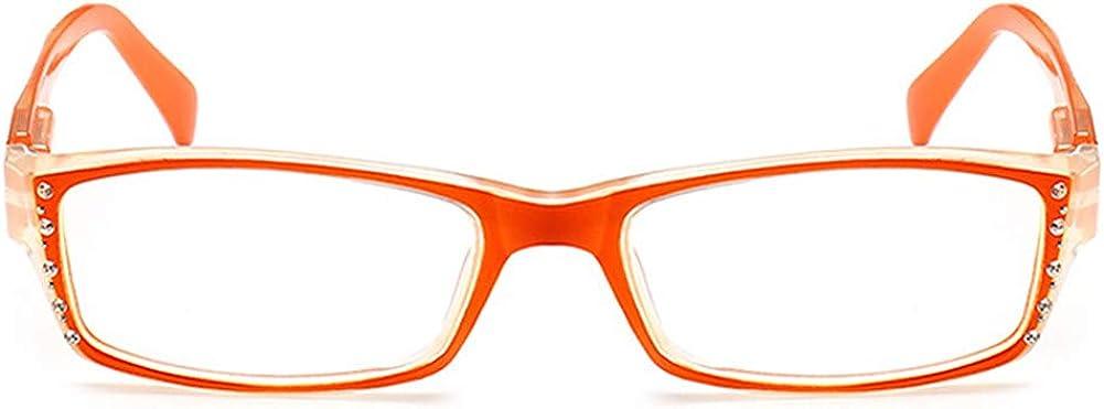 YUNCAT Mujeres Hombres de resina Gafas de lectura de los lectores portátiles lentes de presbicia bisagras de muelles de lectura vasos plástico Mayores Gafas lupas Anti-glare,UV proteccion