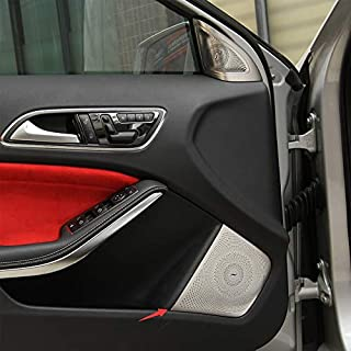 For Mercedes Benz GLA X156 CLA C117 AMG Car Styling Interior Trim Audio Door Speaker Deco Cover Car Stereo Protection Sticker