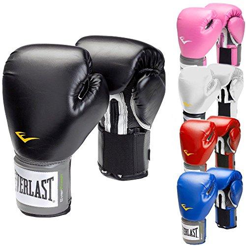 Everlast Boxhandschuhe Pro Style schwarz rot blau Weiss pink 8 10 12 14 16 Oz (schwarz, 12 Oz)