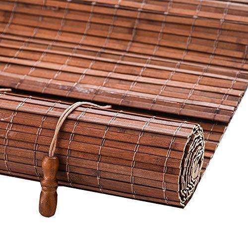 LIANGJUN bamboe gordijn rolgordijn rolgordijn Romeinse venster tinten ademend strak weven privacy bescherming glad decoratie, op maat maat