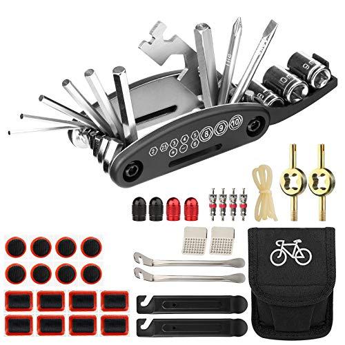XC 35PCS Bike Repair Tool Kit,Multi-Function 16 in 1 Repair Tool,Bicycle Repair Accessories withTire Patch&Tire Levers Bike Fix Tools Set with Bag
