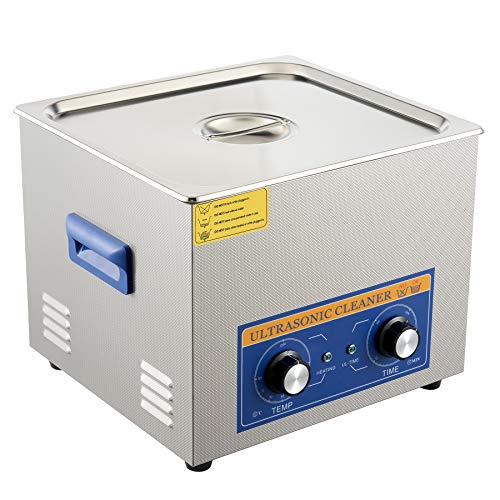 CO-Z 15L Pulitore ad Ultrasuoni in Acciaio Inox con Riscaldatore e Timer Lavatrice ad Ultrasuoni Industriale per Gioielli, Occhiali, Orologi, Lenti per Uso Domestico Laboratorio