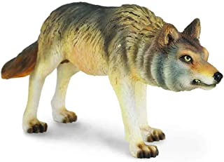 CollectA Woodlands Timber Wolf (Hunting) - Authentic Hand Painted Model