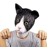 Molezu Halloween Novelty Mask Costume Party Latex Cat Horror Mask Head Mask (cute cat)