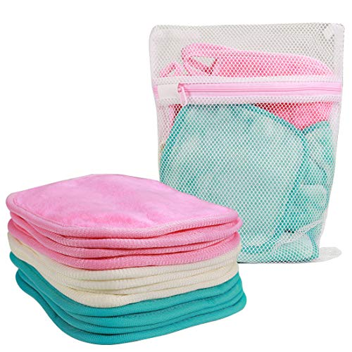 "NATWAG | Reusable Update Makeup Remover Microfiber Cloth for Sensitive Skin | Washable Makeup Remover Towels | Natural Facial Cleansing Towels (6""x 6"", 12 Pack, Assorted)"