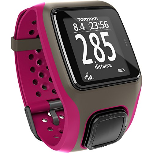 TomTom Multi-Sport - Reloj Deportivo con GPS para Atletismo, Ciclismo y natación, Color Gris, Talla L