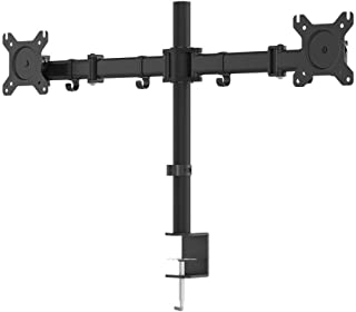 Monoprice Essential Dual Monitor Articulating Arm Desk Mount, Black