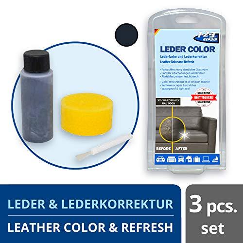 Preisvergleich Produktbild REPAIR 123Repair Lederfarbe - Ledercouch wie Neu - Lederfärbemittel - Schwarz 57ml