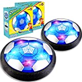 TURNMEON 2 Pack Hover Soccer Ball, Rechargeable Soccer Ball Toys Indoor Floating Soccer with LED Light & Foam Bumper - Perfect Holiday Birthday Christmas Toy Gifts for Boys Girls Kids Toddler