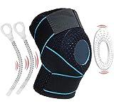 Rodillera Rodilleras de compresión de apoyo con estabilizadores laterales Rodilleras antideslizantes Estabilidad de la rodilla Rodilleras transpirables para correr, baloncesto