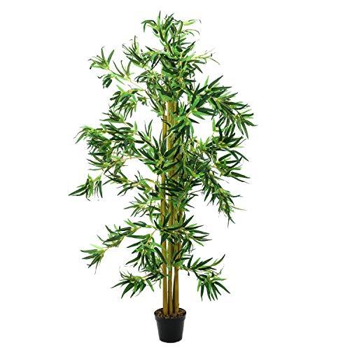 Bambú Artificial con cañas Naturales, 210 cm - Planta Artificial/árbol sintético - artplants