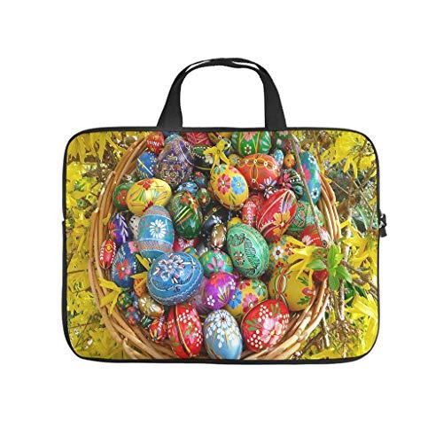 Funda para portátil con diseño de huevos de Pascua felices, resistente al polvo, para el ordenador portátil, para el trabajo, el negocio