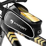 FITFORT Fahrrad Rahmentasche Wasserdicht Lenkertasche Oberrohrtasche Touchscreen handyhalterung mit...