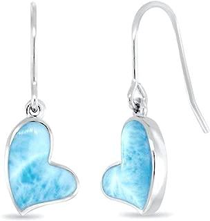 floating heart earrings