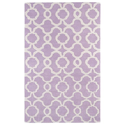 Kaleen Rugs Revolution Collection REV03-90 Lilac Hand Tufted 5' x 7'9' Rug