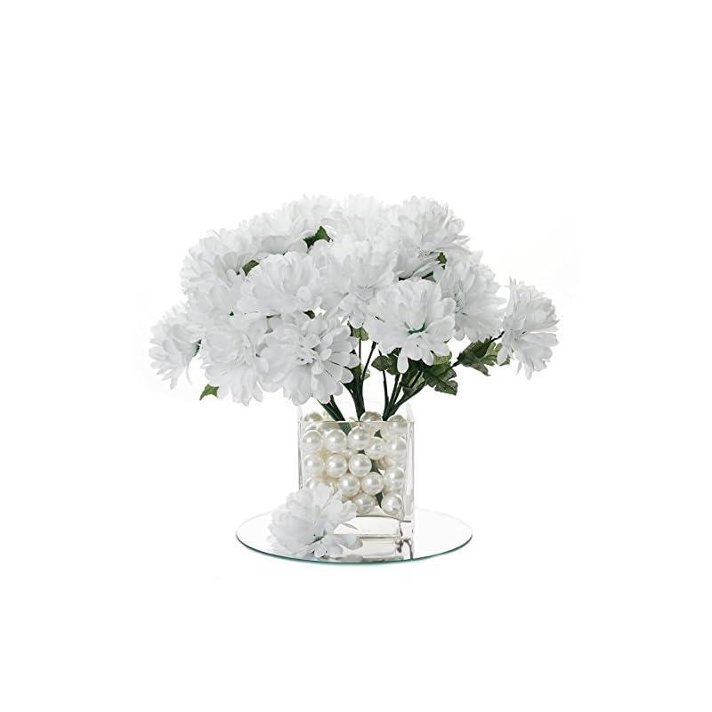 silk flower arrangements balsacircle 84 white silk chrysanthemums - 12 bushes - artificial flowers wedding party centerpieces arrangements bouquets supplies